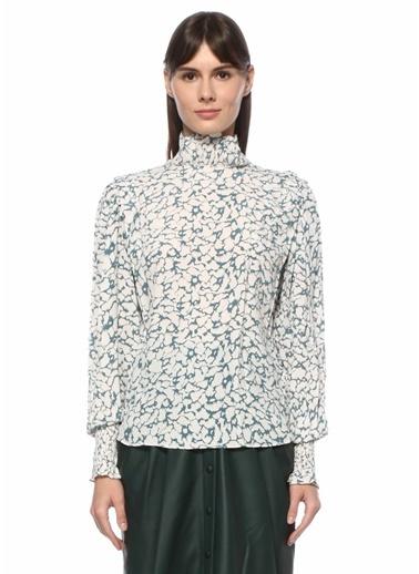 Etoile Isabel Marant Etoile Isabel Marant  Geometrik Desenli Dik Yaka Bluz 101550503 Siyah
